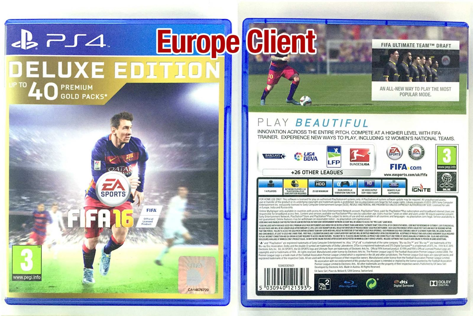 How to Distinguish the FIFA 16 PS4 Disk Version in Different Countries