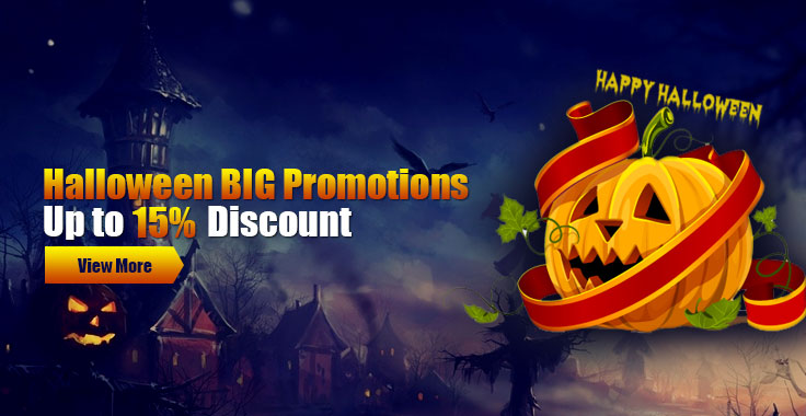 Halloween BIG Promotions - Up to 15% Discount
