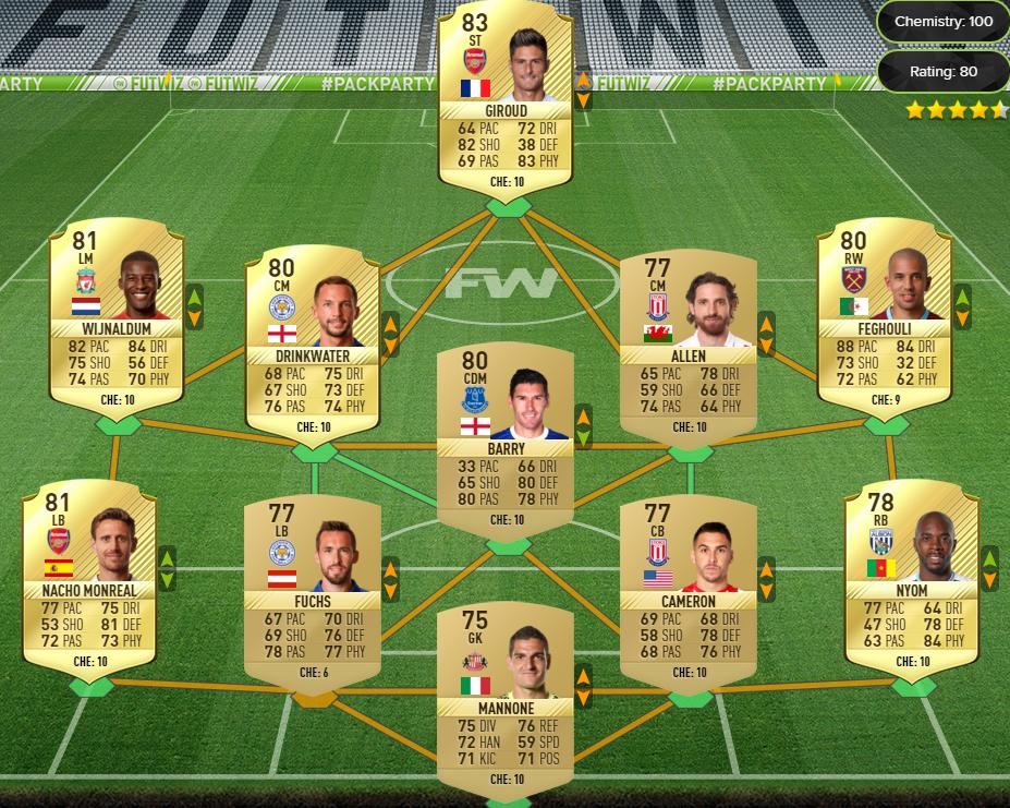 FIFA 17 MM SBC Challenge 3