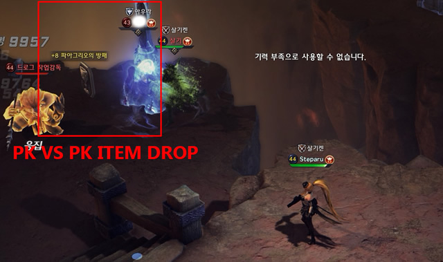 Enemy PK item drop