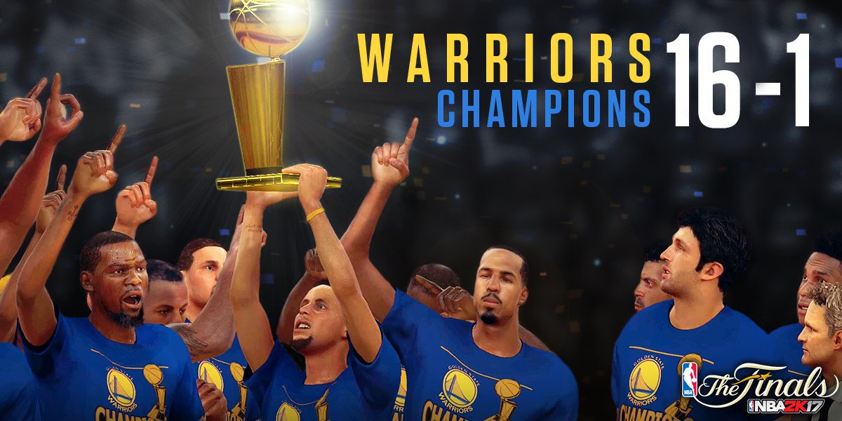 The Warriors Wins The Champions Of NBA Finals Again In NBA 2K17