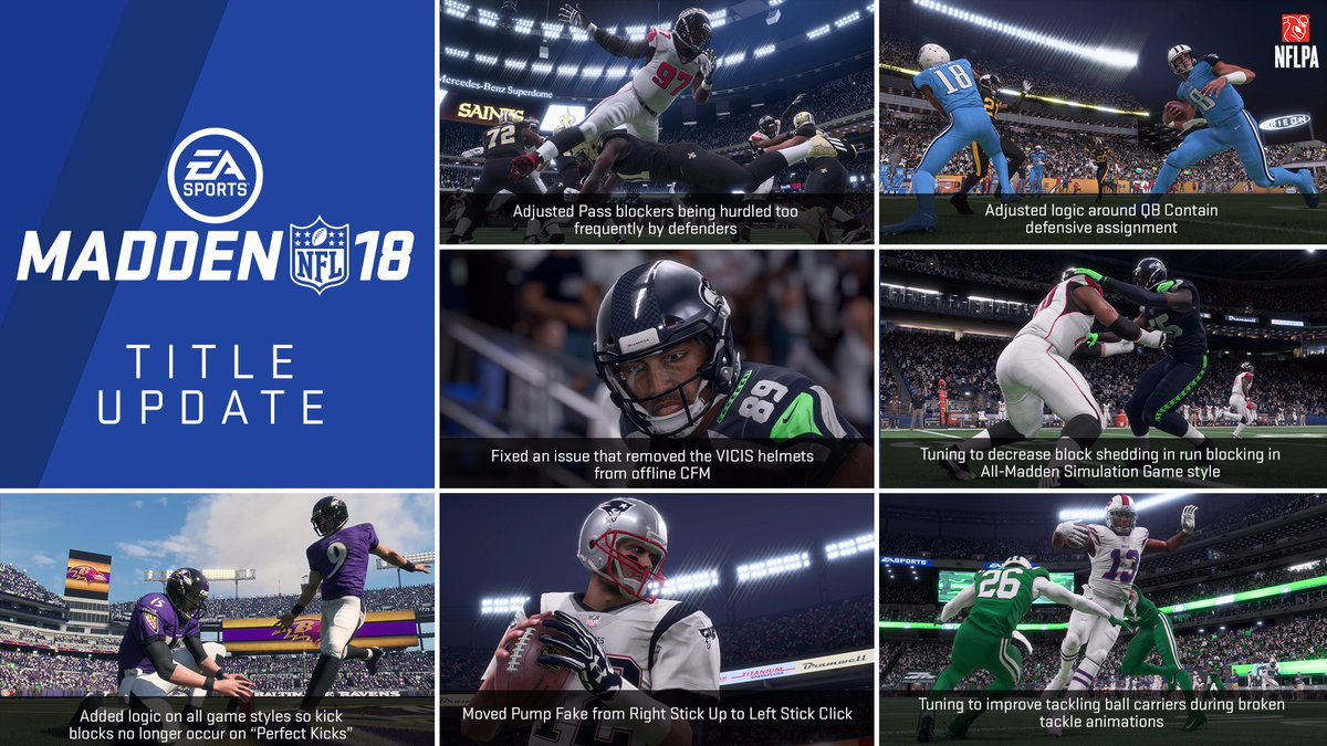 Madden NFL 18: November Update Overhauls Blocks On Perfect Kick