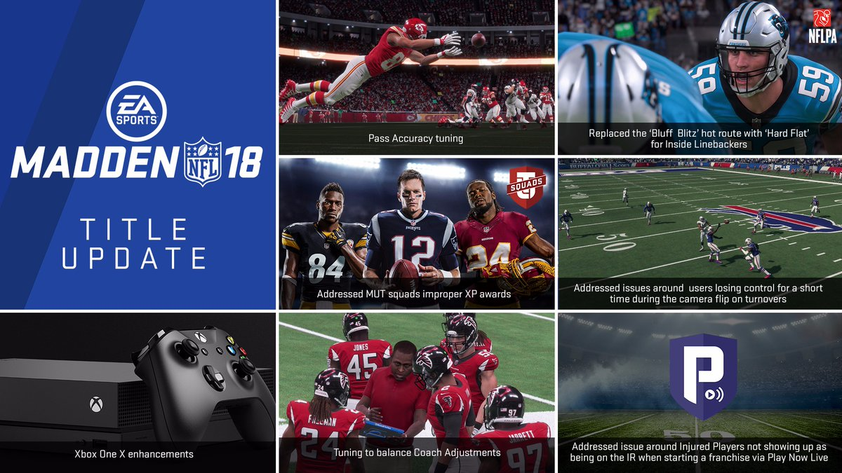 Madden 18 Available On Xbox One X With New Patch 1.06