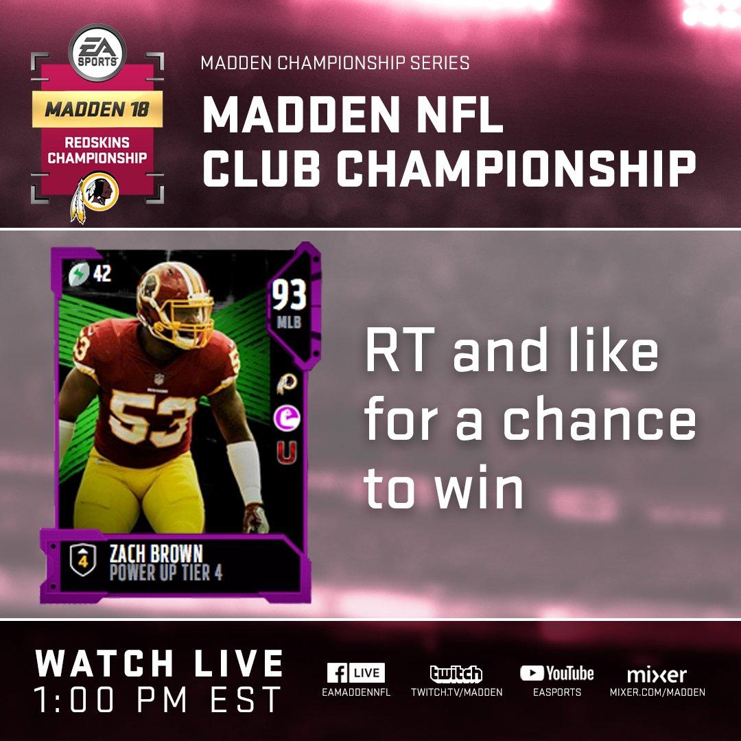 Madden 2018 Club Championship - Washington Redskins