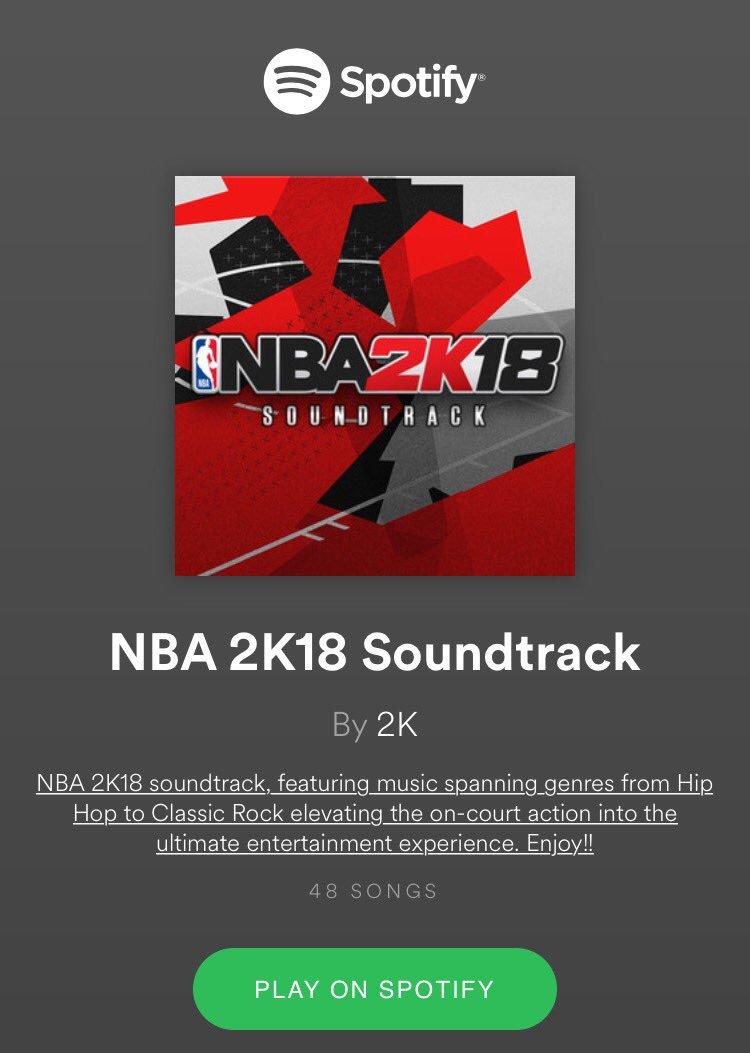 Take A Listen Of NBA 2K18