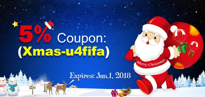 Merry Christmas - 5% Coupon Only for u at U4FIFA.com