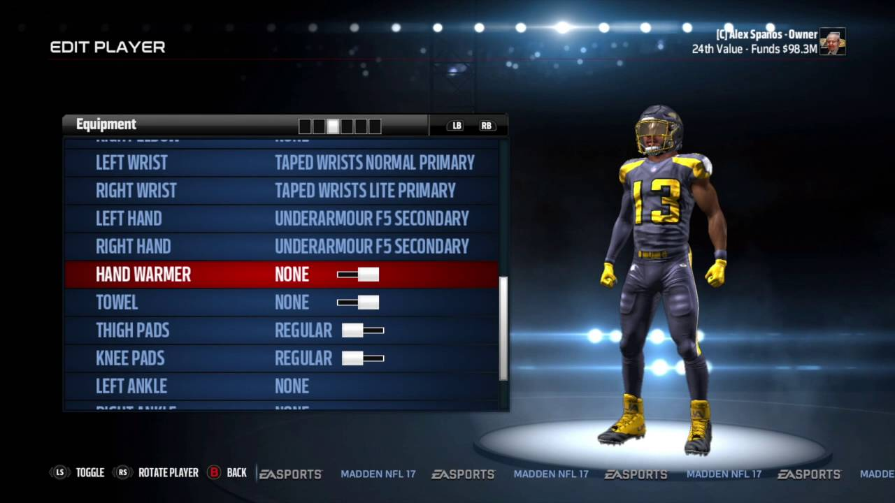 Relocation in Madden 17