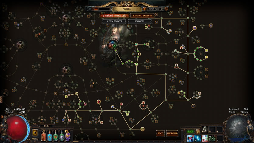 Path of Exile: Share Player's Passive Skilltree