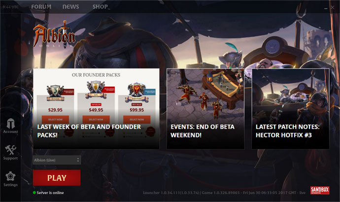 The All-New Albion Online Launcher Is Available With New Features