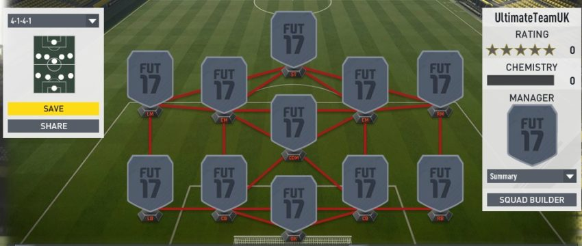Lone Striker Formations in FUT 17 Champions