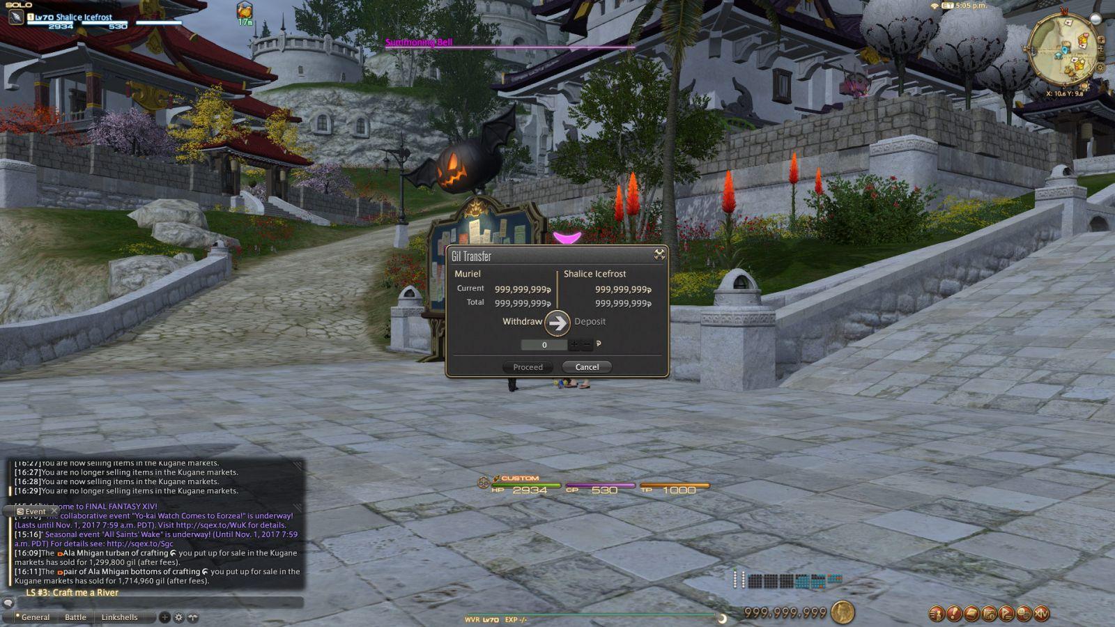 Do You Know Final Fantasy XIV Gil Cap: 999.999.999 Gil