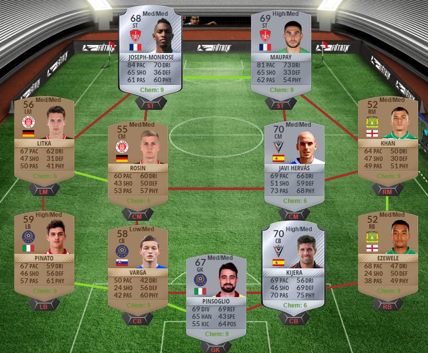 FUTmas SBC squad 1