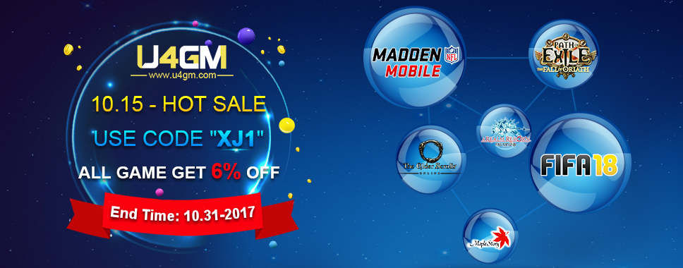 U4GM Game Service Halloween Promo 2017 Announcement - 6% OFF