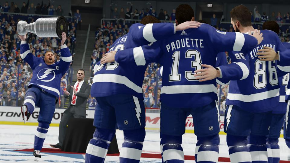 Lightning win Cup in EA Sports NHL 18 season simulation
