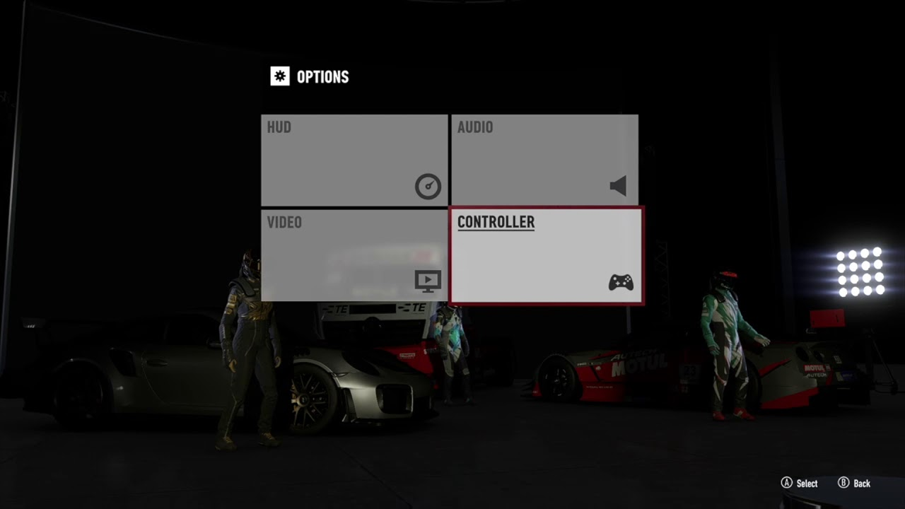 Some Unfriendly Menu's and Options in Forza Motorsport 7