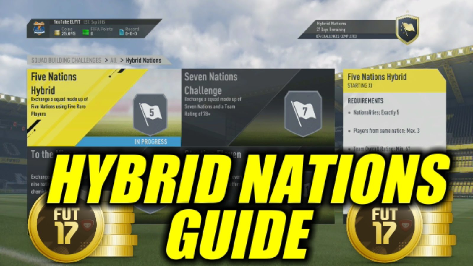 FIFA 17 Hybrid Nations Squad Builder Challenges