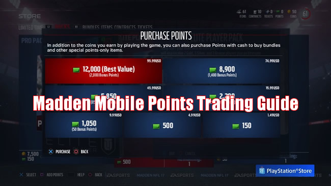 Madden Mobile Points Trading Guide