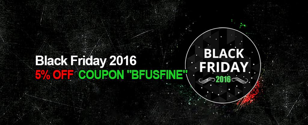 Usfine Black Friday Promotion Details: 5% OFF
