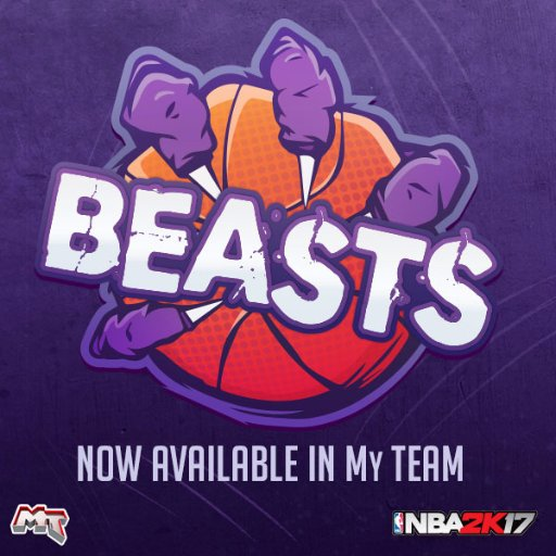 New Cards Available In NBA 2K17 Beasts Theme Pack
