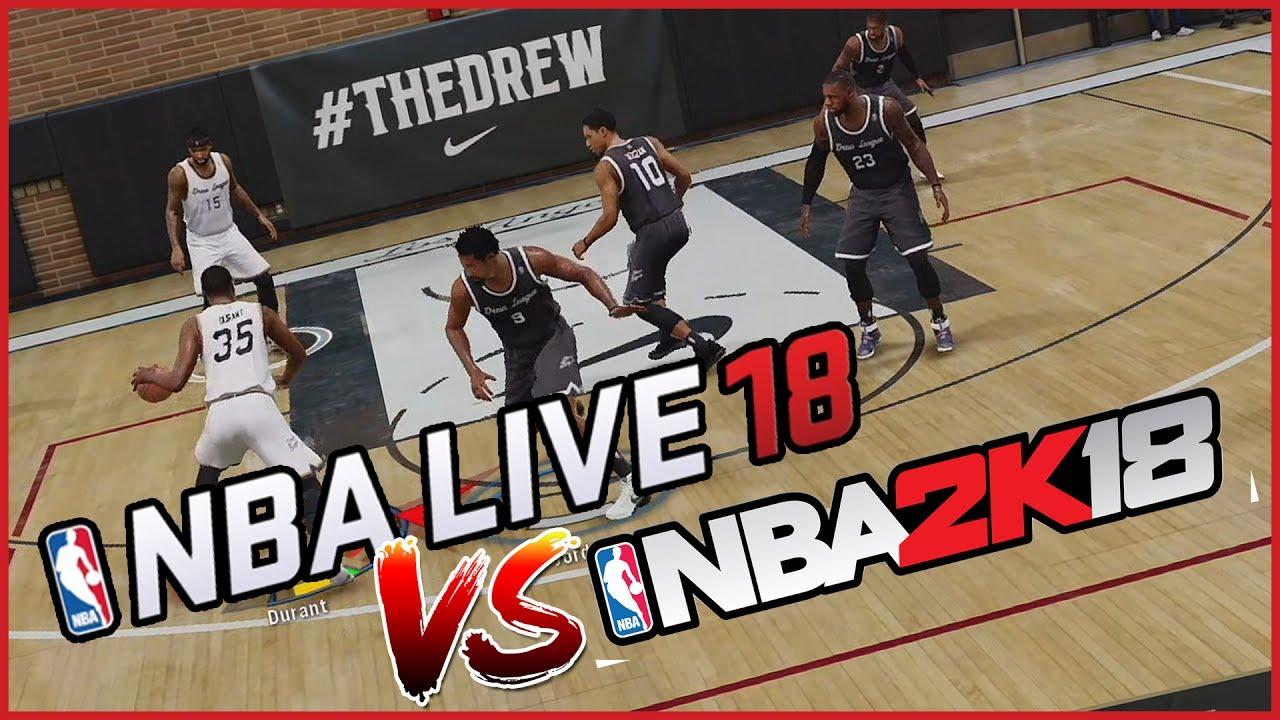 NBA Live 18 vs NBA 2K18: Top 10 highest rated players comparison
