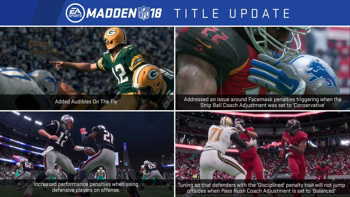 Electronic Arts Updates Madden NFL 18