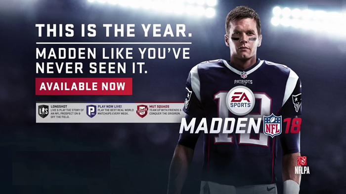Madden 18 In The NFL Graphics Game At The Top And The Longshot Novelty