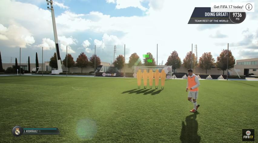 FIFA 17 skill games challenge