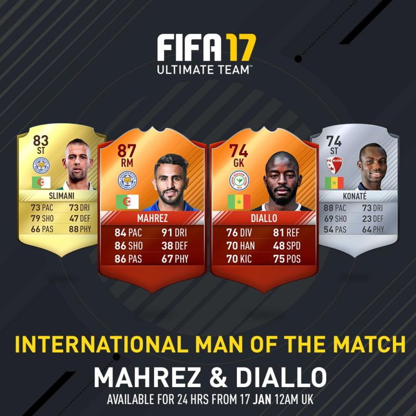 FIFA 17 iMOTM Cards: iMOTM Mahrez and Diallo Released