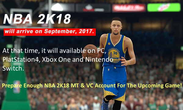 U4NBA Now Offers The Cheapest NBA 2K18 MT With Quick Delivery