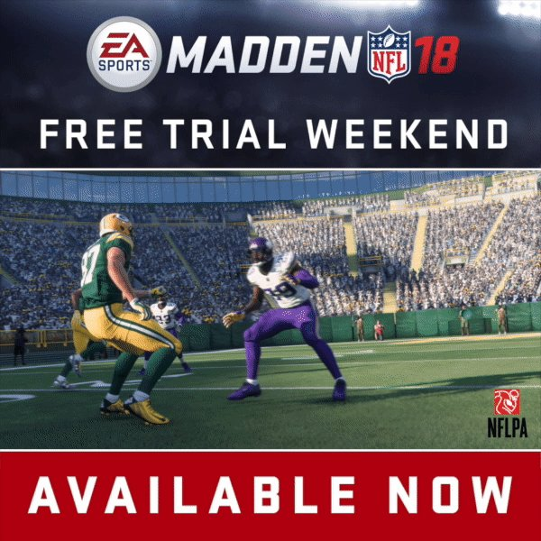 Enjoy The Global Free Trial Event In Madden 18 This Weekend