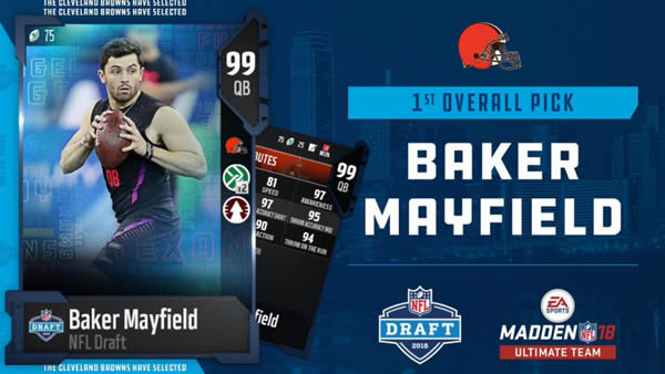 Madden NFL 18 - Check The First Round Of 2018's NFL Draft