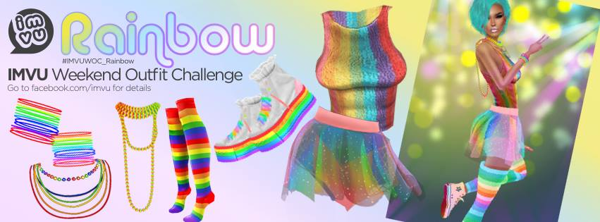 The Next Imvu Weekend Outfit Challenge Theme - Rainbow