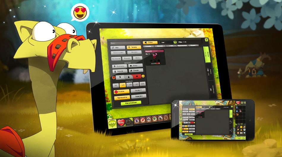 DOFUS Touch: New Filtering Panels Of Dragoturkeys
