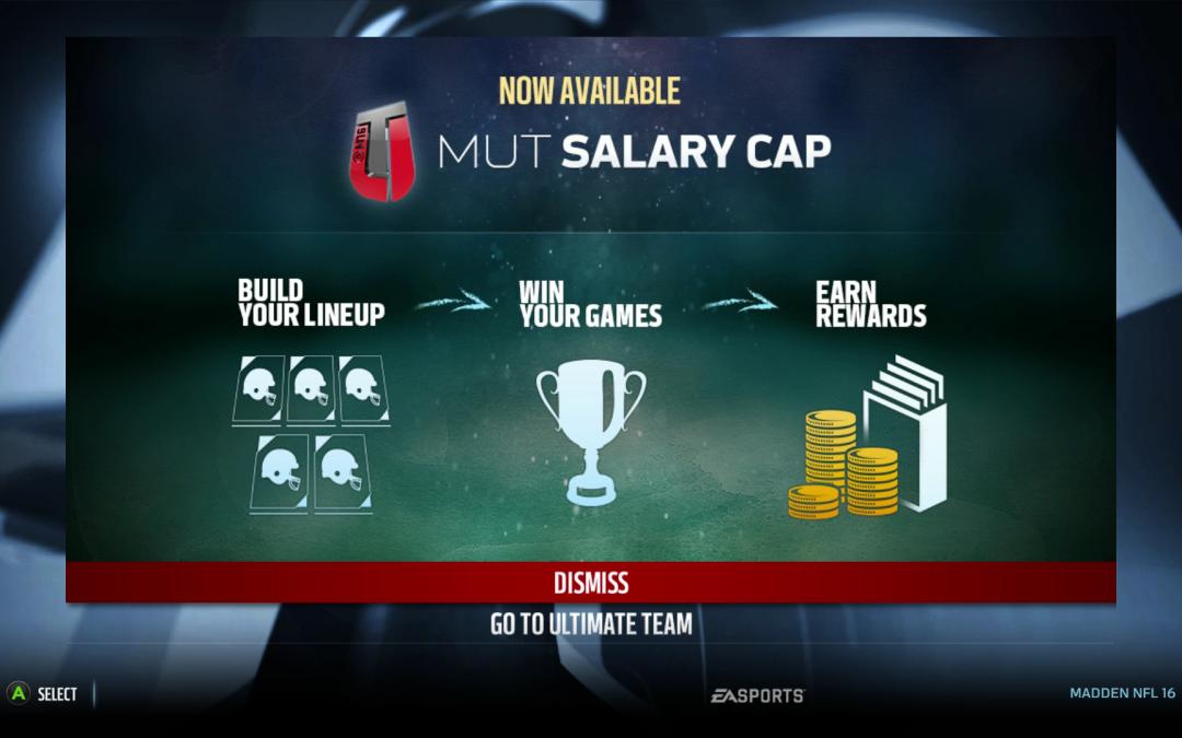 Madden 17 salary cap