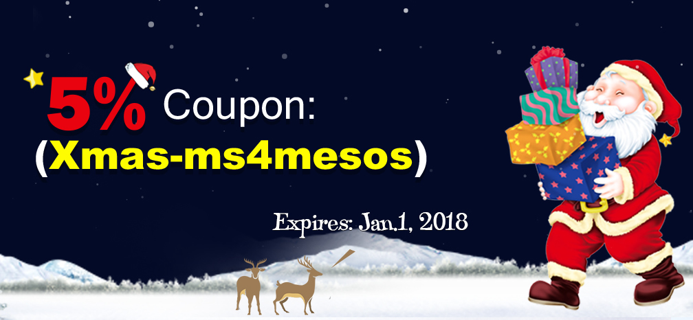 Merry Christmas - 5% Coupon Only for u at Ms4mesos.com