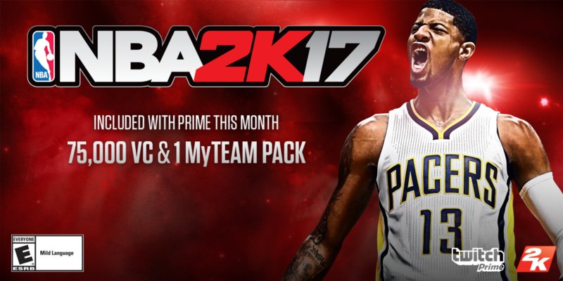 Twitch Prime Members Can Get Free NBA 2K17 Locker Code Now - u4nba com