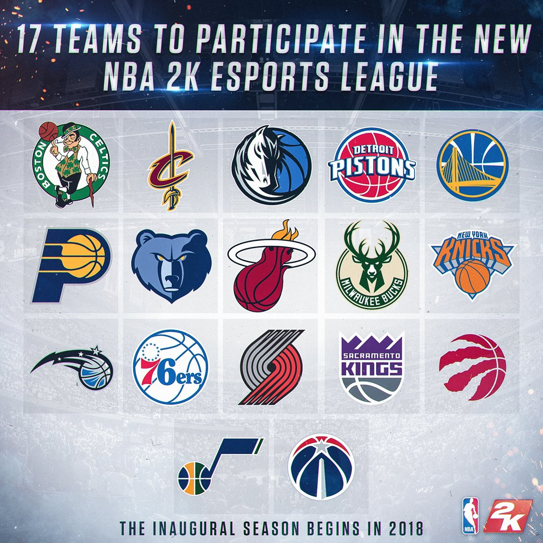 17 Teams Will Be Ready To Go For Inaugural NBA 2K eLeague Season In 2018