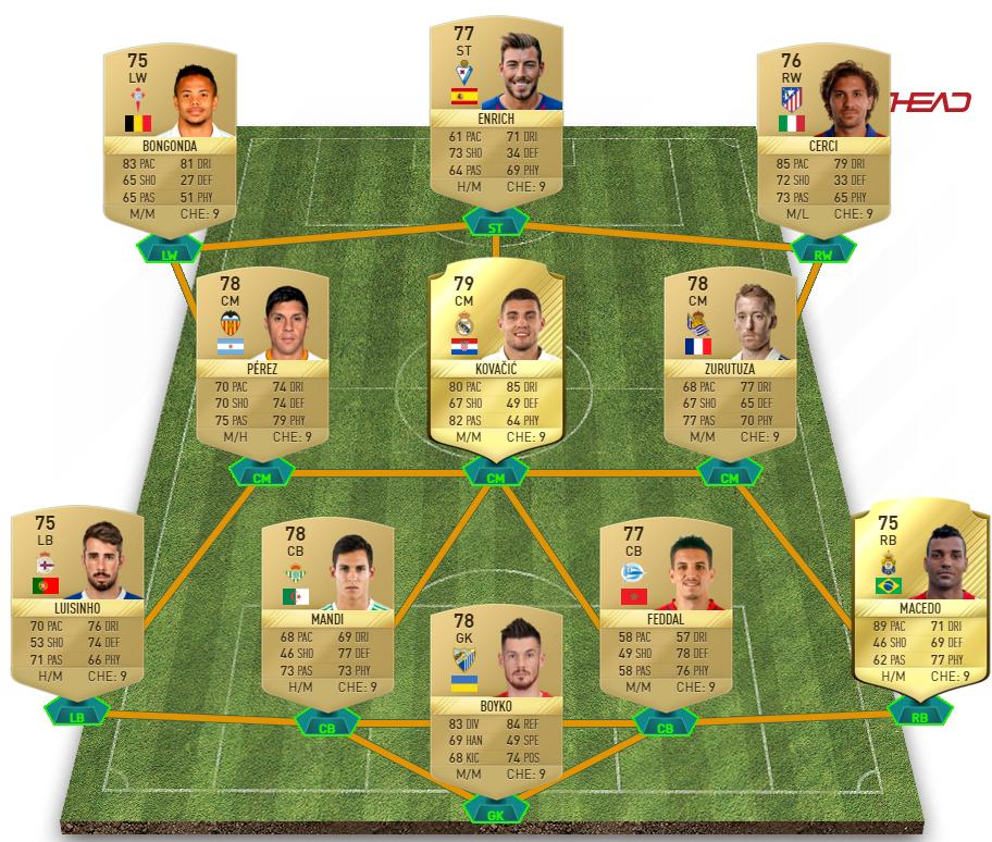 La Liga Santander squad 1