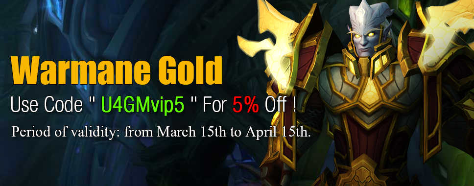 U4GM: Hot Sale Warmane Gold with 5% Coupon